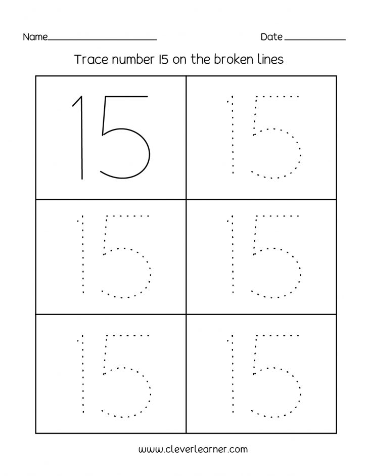 Printable Number Tracing Worksheets For Kindergarten