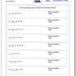 Number Patterns | Go Math Printable Worksheets