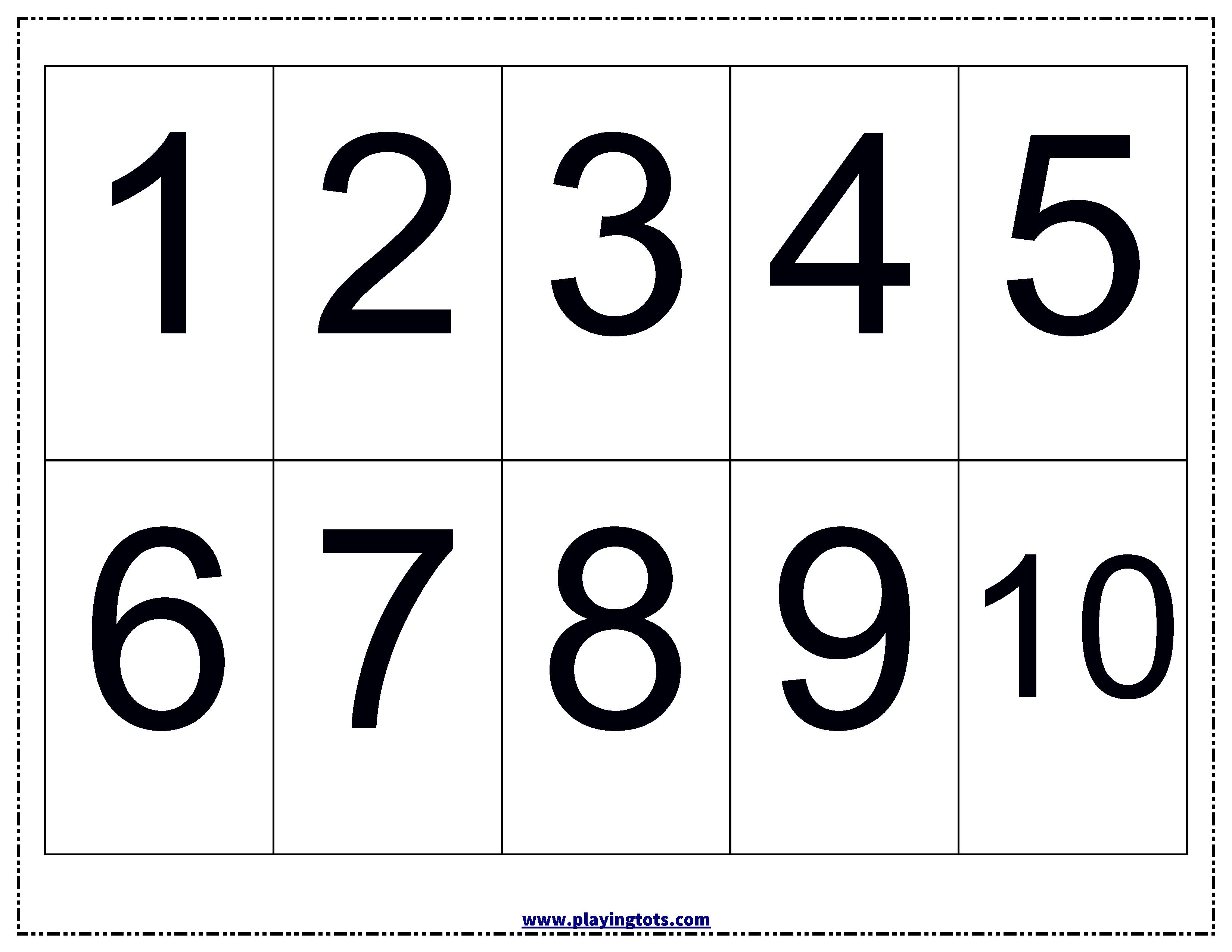Numbers Chart Keywords:free, Printable,pdf,free,printable,learn | Free Printable Toddler Learning Worksheets