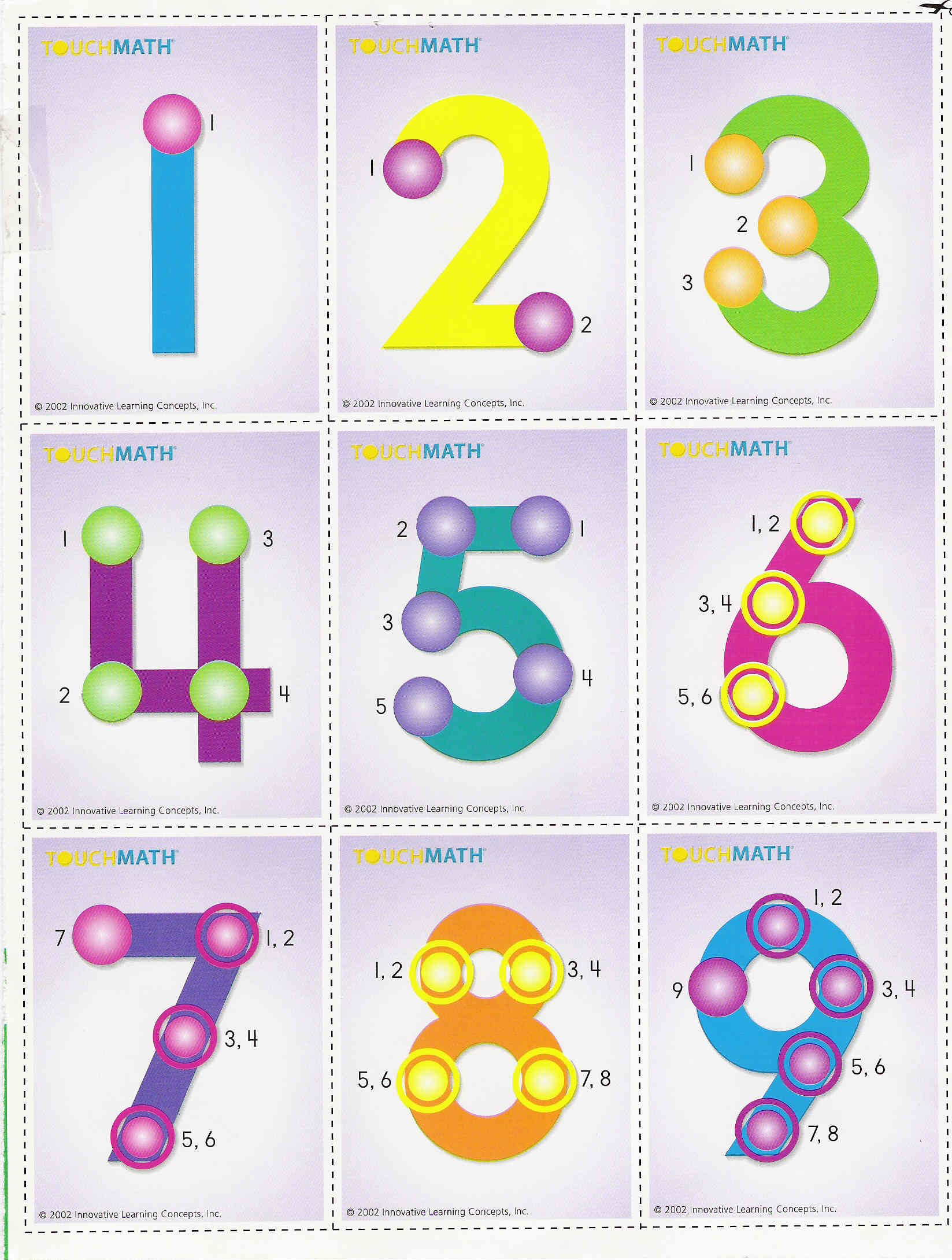 Touchpoint Math - Beles.club | Printable Touch Math ...