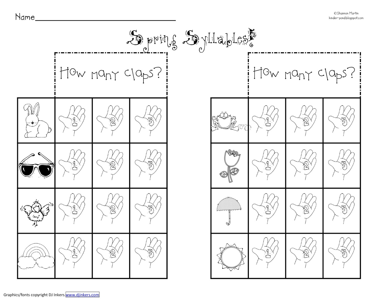 Open And Closed Syllable Worksheets | Free Printables Worksheet | Free Printable Syllable Worksheets For Kindergarten