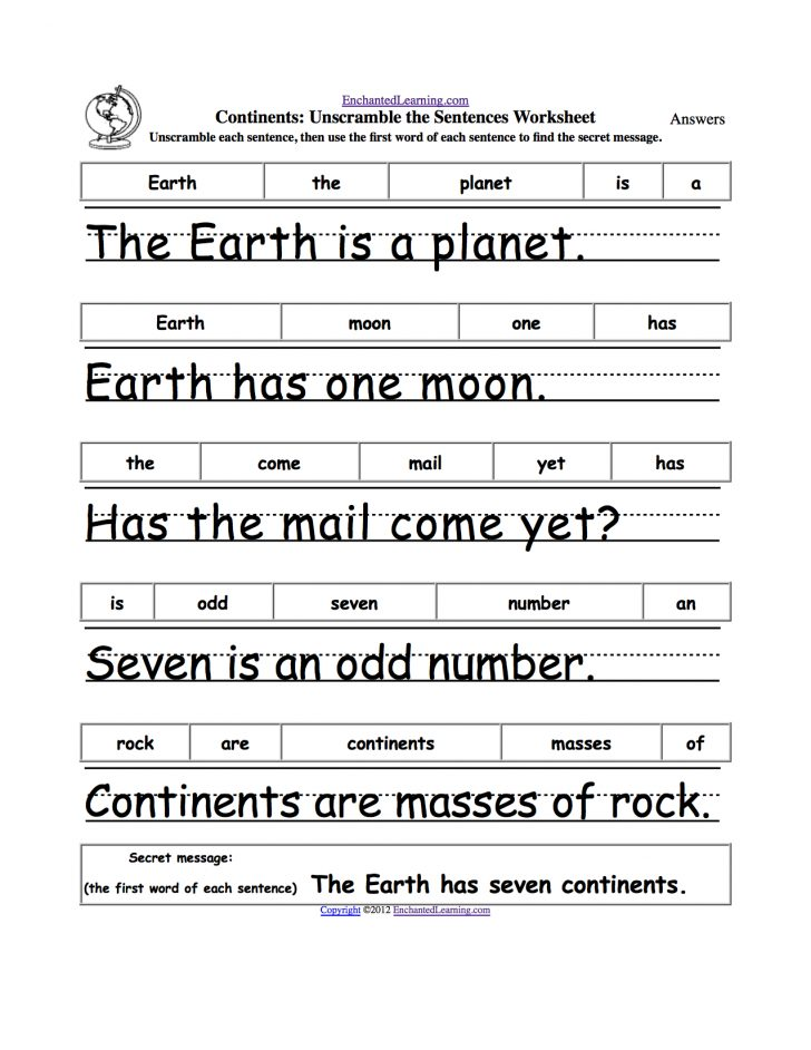 Free Printable Parts Of Speech Worksheets