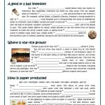 Passive   Inventors And Inventions Worksheet   Free Esl Printable | Inventions Printable Worksheets