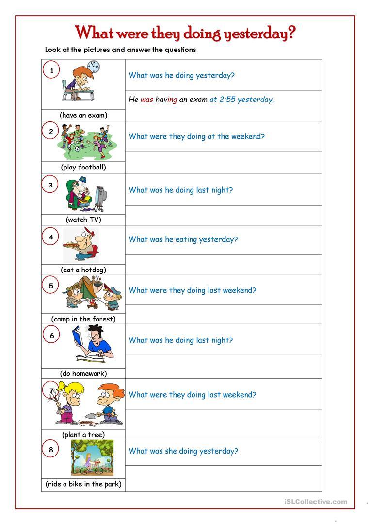 Past Continuous Tense Worksheet - Free Esl Printable Worksheets Made | Past Progressive Tense Worksheets Printable