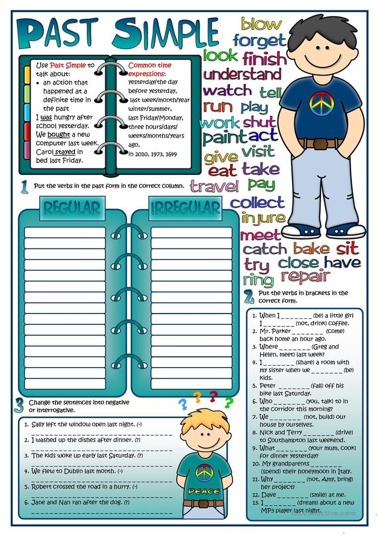 Past Simple Tense Worksheet - Free Esl Printable Worksheets Made | Past Simple Printable Worksheets