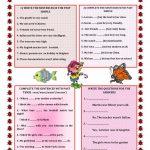 Past Simple Verb To Be Worksheet   Free Esl Printable Worksheets | To Be Worksheets Printable