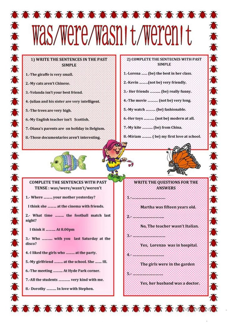 To Be Worksheets Printable