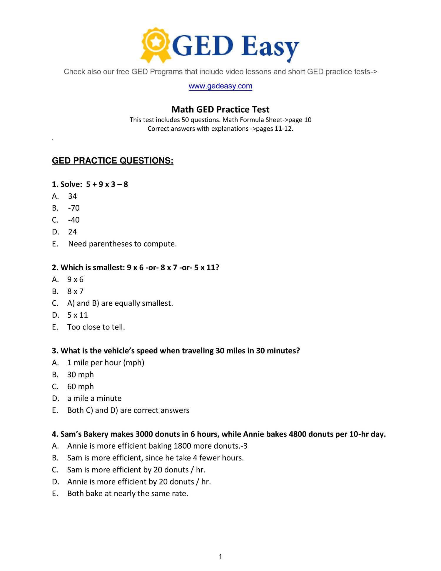 Pdf Printable Ged Practice Book   Wiring Library   Printable Ged Science Practice Worksheets