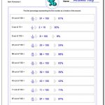 Percentages | Math Percentages Worksheets Printable