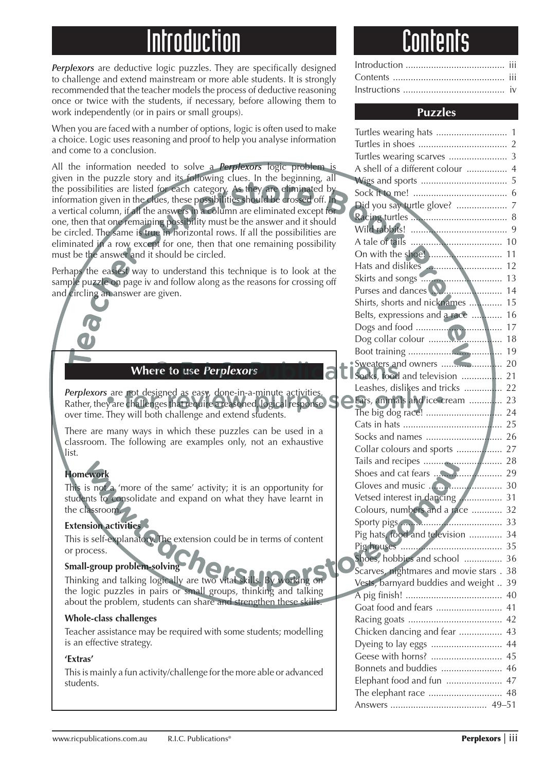 Perplexors: Ages 8-9Teacher Superstore - Issuu | Printable Perplexors Worksheets