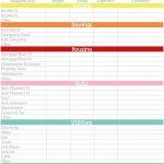 Personal Budget Planner Spreadsheet Excel Template Free Printable | Budget Helper Worksheet Printable