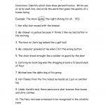 Personification Worksheet   Free Esl Printable Worksheets Made | Printable Personification Worksheets