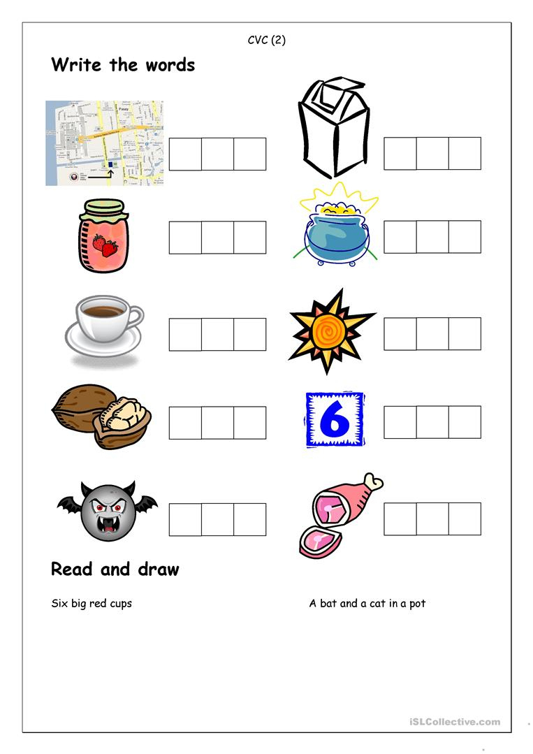 Phonics - Spelling Cvc (2) Worksheet - Free Esl Printable Worksheets | Cvc Worksheet Printable