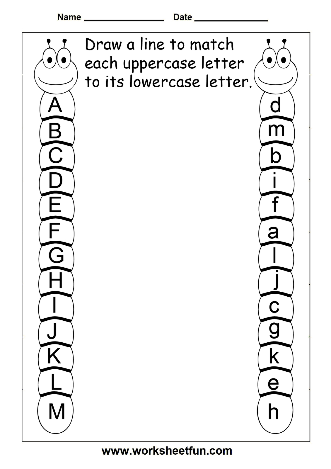Pinashley Hibbs On Kiddo | Kindergarten Worksheets, Preschool | Abc Matching Worksheets Printable