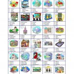 Places In A Town   Multiple Worksheet   Free Esl Printable | Places In Town Worksheets Printables