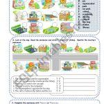 Places In Town   Esl Worksheetsilvanija | Places In Town Worksheets Printables