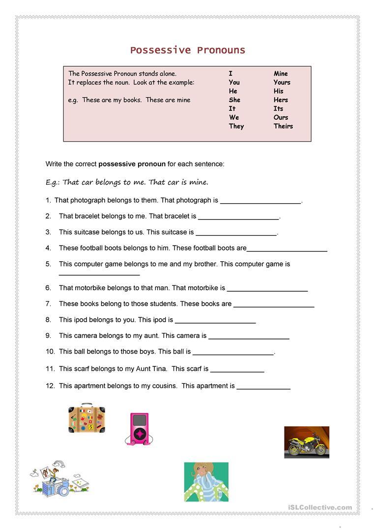 Possessive Pronouns Worksheet - Free Esl Printable Worksheets Made | Possessive Pronouns Printable Worksheets