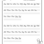 Practice Penmanship – Free Abc's Printable Cursive Writing Worksheet | Free Printable Cursive Handwriting Worksheets