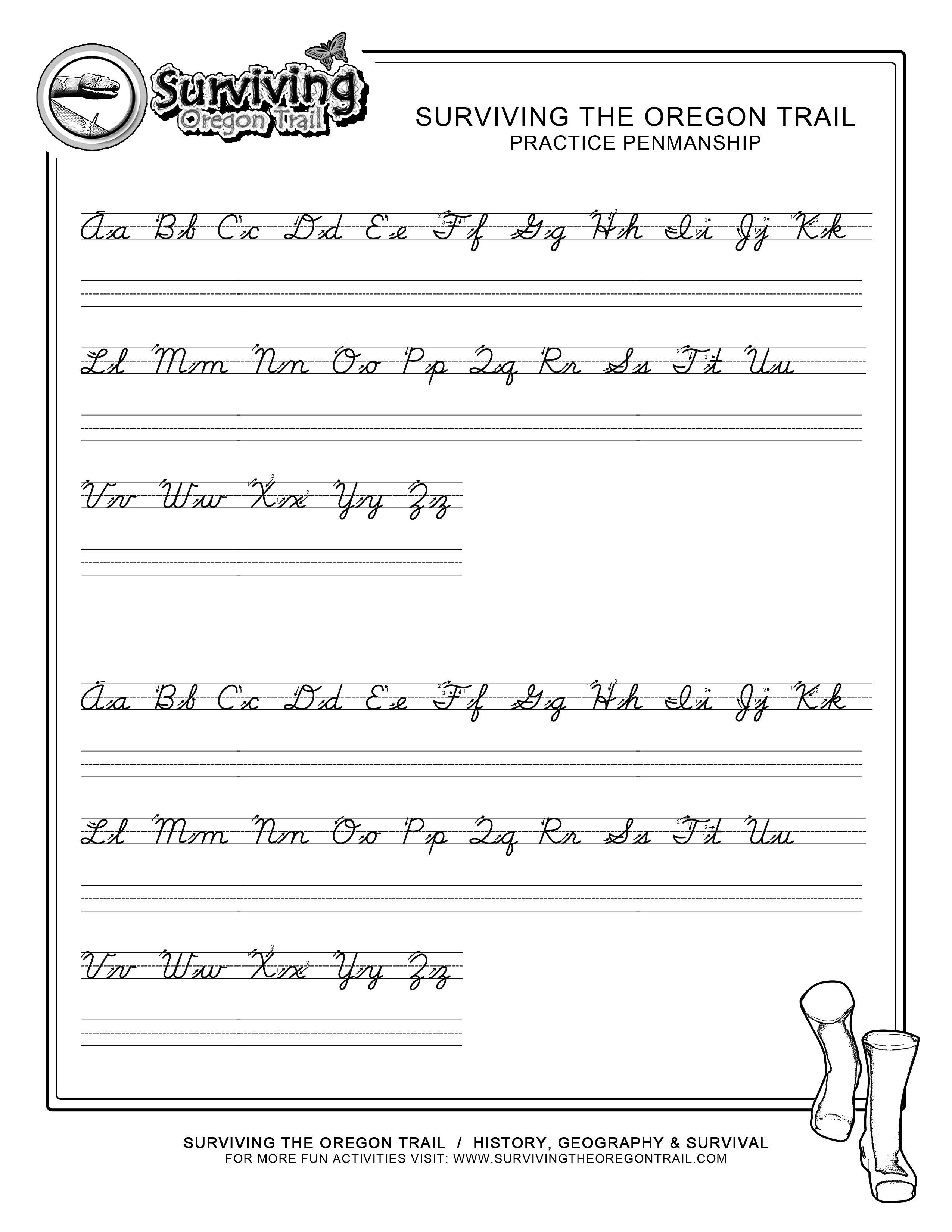 Practice Penmanship – Free Abc's Printable Cursive Writing Worksheet | Free Printable Writing Worksheets