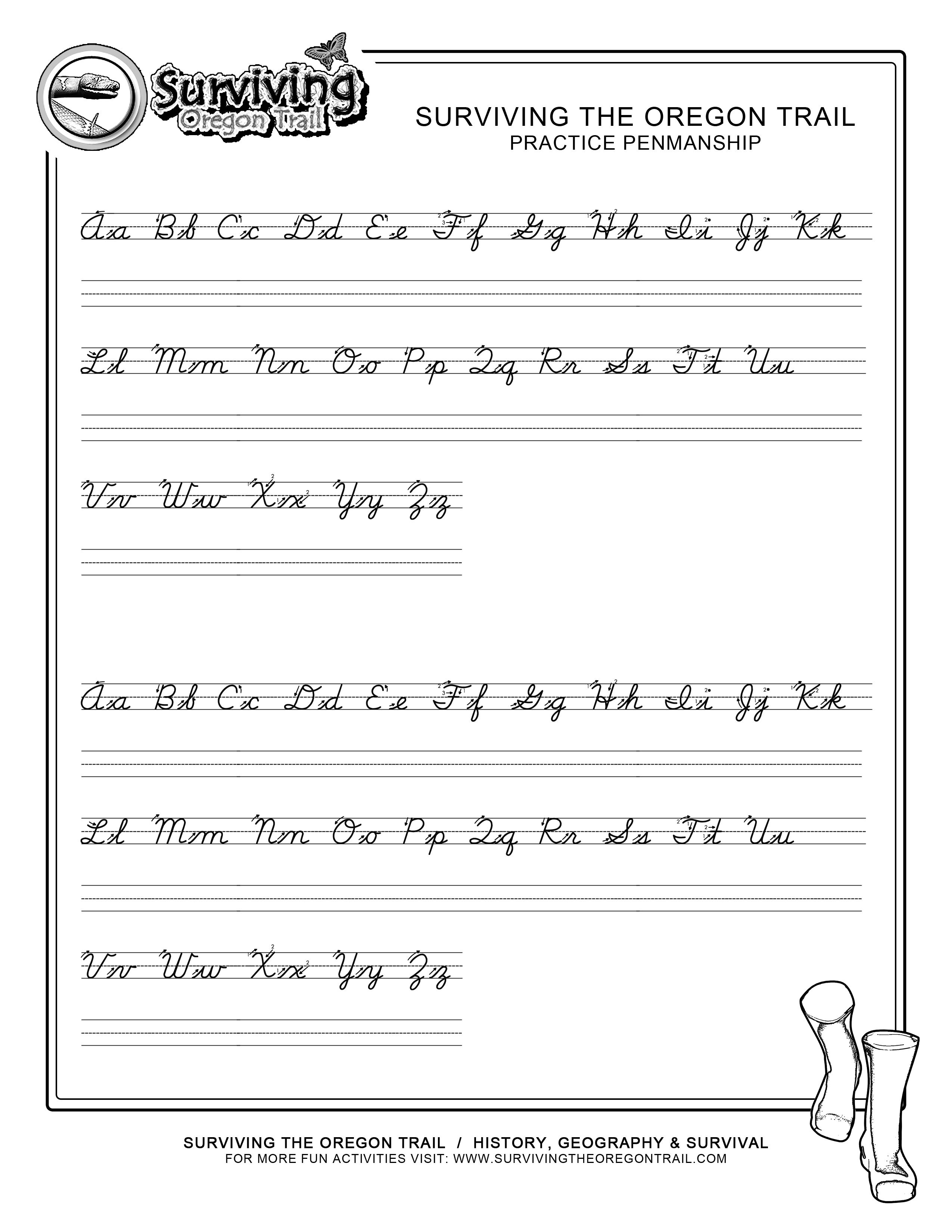 Practice Penmanship – Free Abc's Printable Cursive Writing Worksheet | Printable Cursive Worksheets