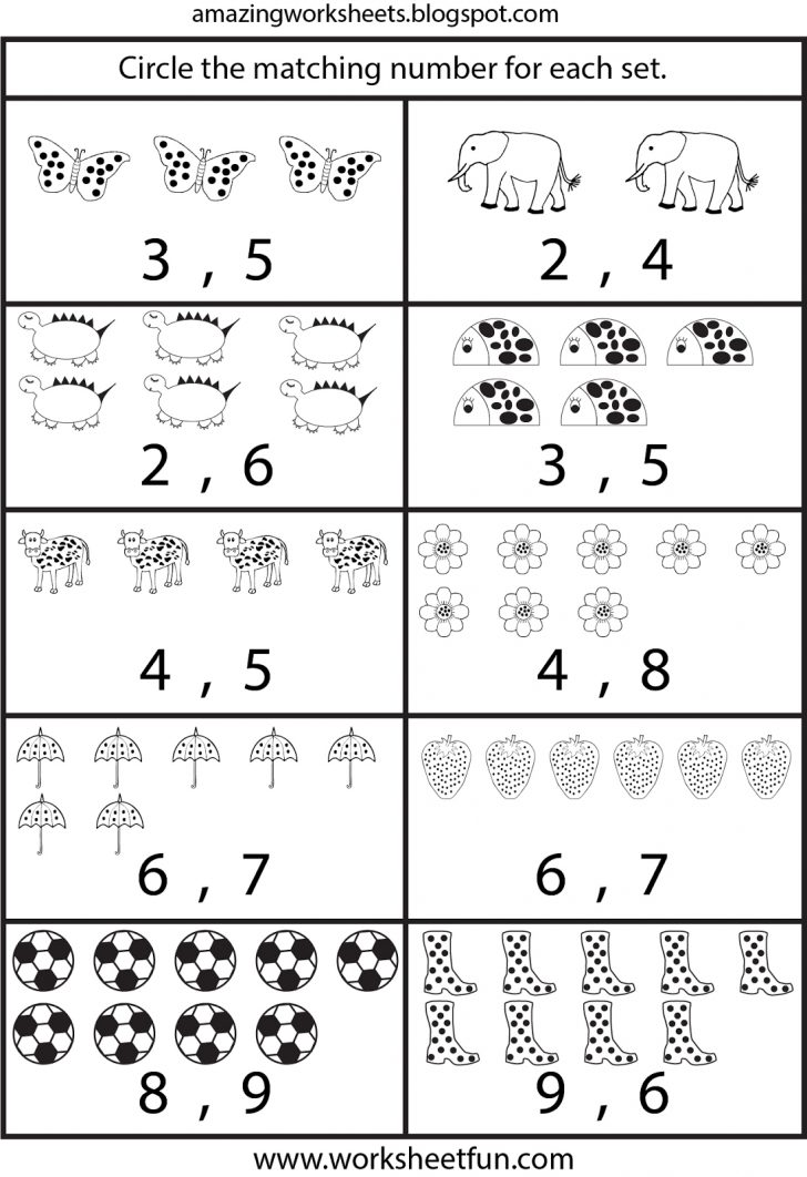 Counting Printable Worksheets For Kindergarten