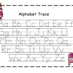 Pre K Letter Tracing Worksheets A With Pre Kindergarten Alphabet | Free Printable Abc Tracing Worksheets