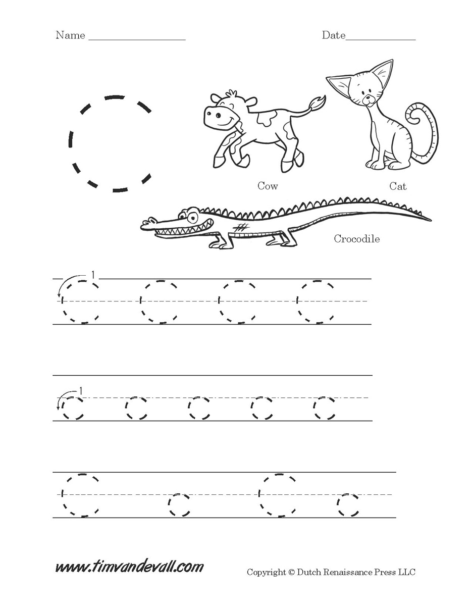 Pre K Printables Worksheets Letter C Worksheets For Pre K Printable | Pre K Printable Worksheets