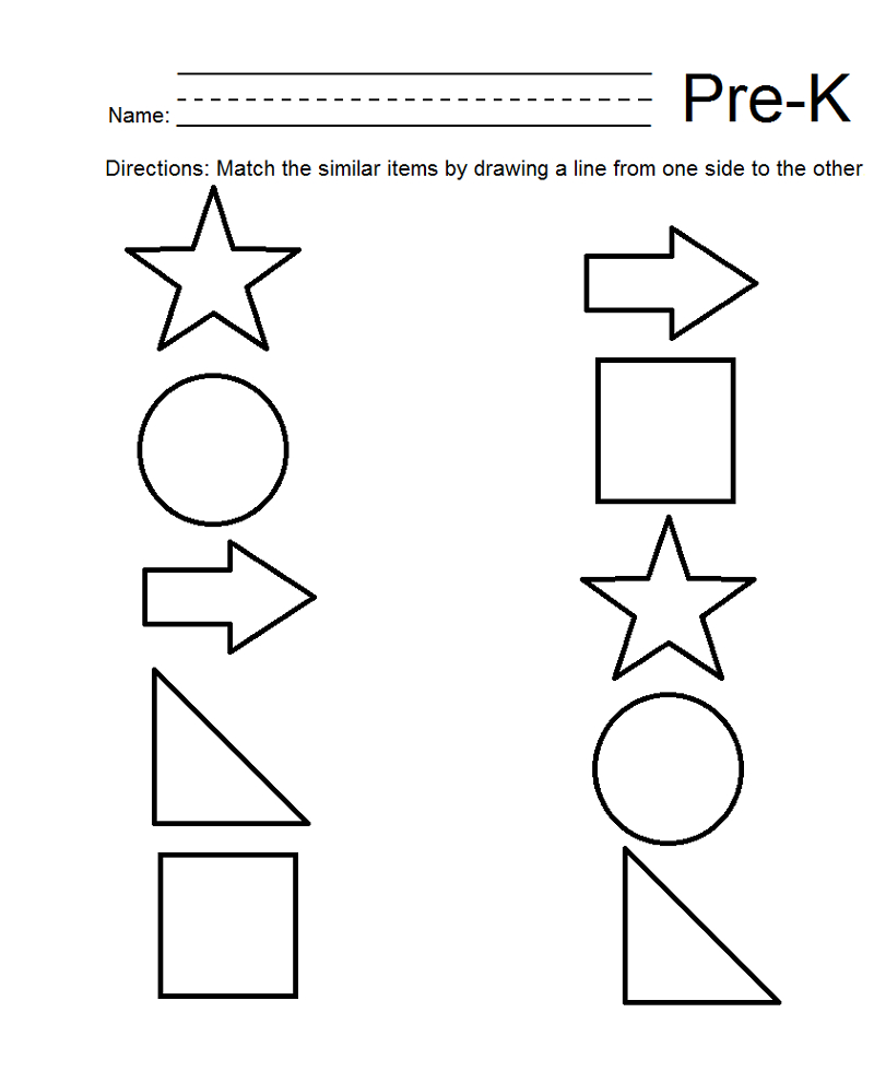 Pre K Shapes Worksheets Printable | Kiddo Shelter | Pre K Printable Worksheets
