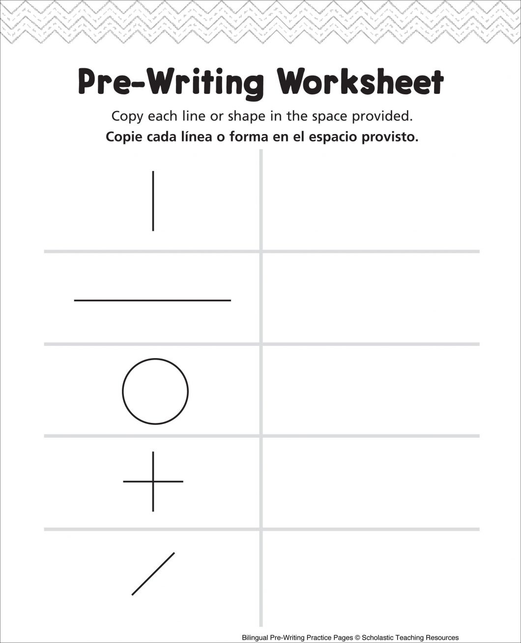 Pre K Writing Worksheets – With For Kg1 Also Printable Preschool | Bilingual Worksheets Printable