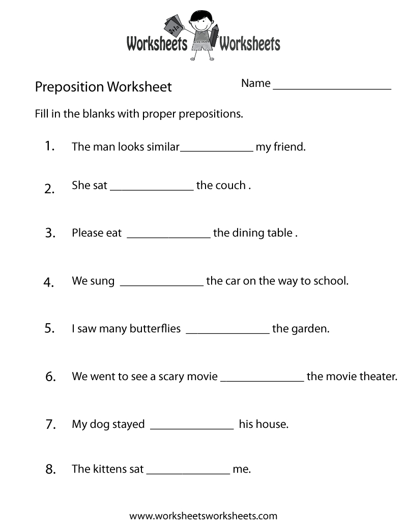 Preposition Worksheets   Two Ways To Print This Free Prepositions   Free Printable Preposition Worksheets For Kindergarten