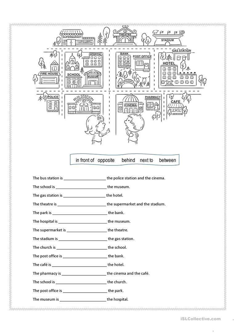 Prepositions Of Place Worksheet - Free Esl Printable Worksheets Made | Printable Preposition Worksheets