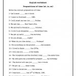 Prepositions Of Time ( On , In , At) Worksheet   Free Esl Printable | Free Printable Worksheets For Prepositions