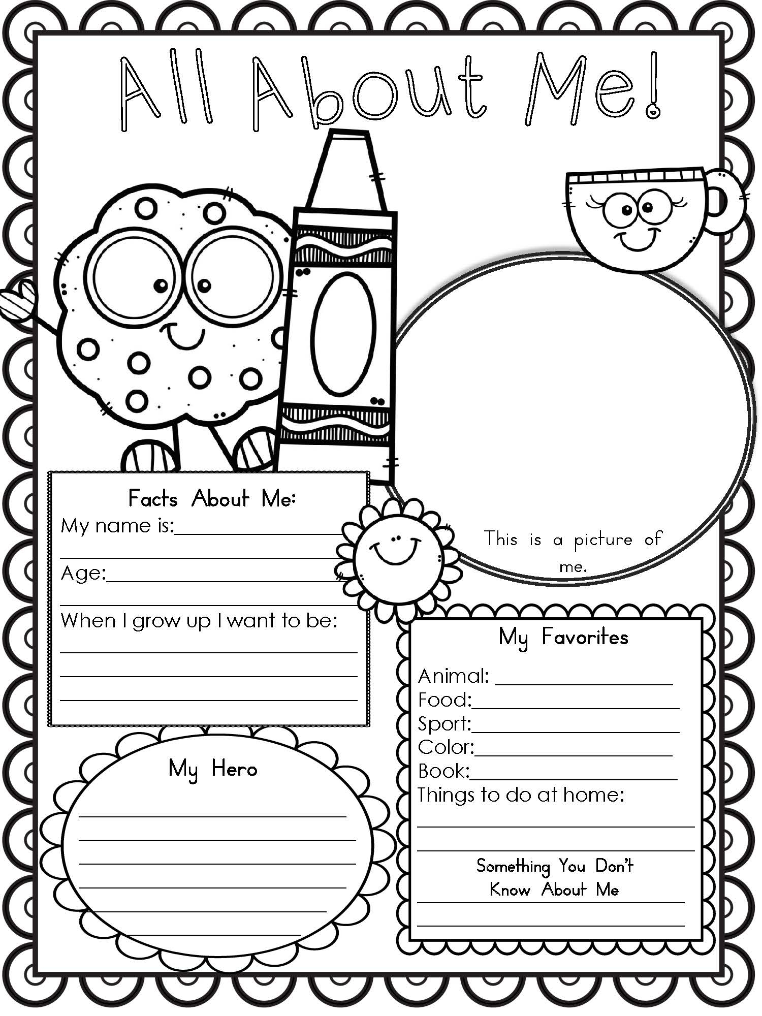 Preschool & Kindergarten Archives - Modern Homeschool Family | All About Me Worksheet Preschool Printable