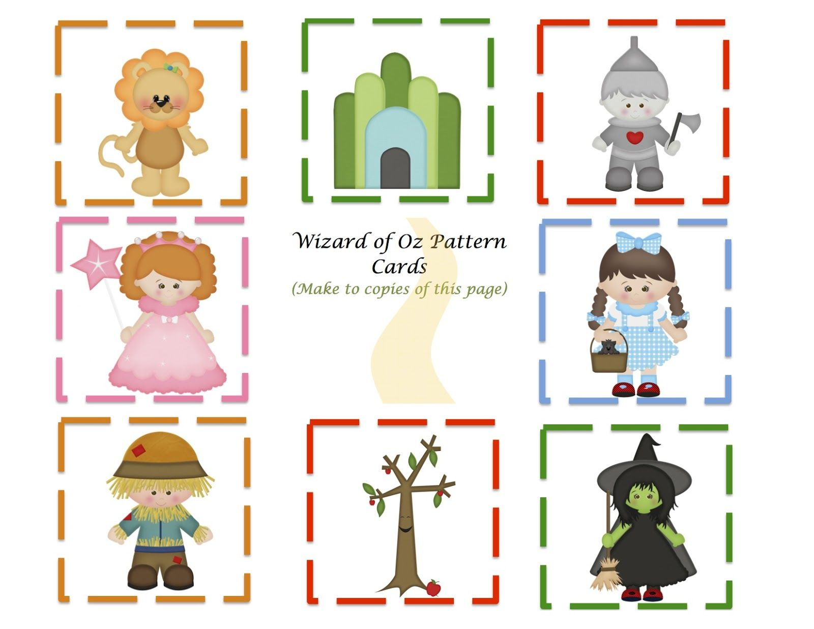 Preschool Printables: Wizard Of Oz Mini Printable | Wizard Of Oz | The Wizard Of Oz Printable Worksheets