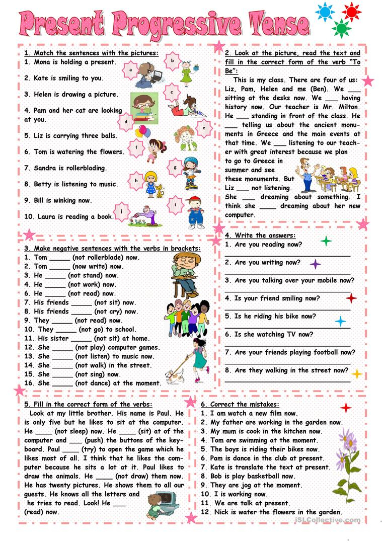 Present Progressive Tense Worksheet - Free Esl Printable Worksheets | Present Progressive Worksheets Printable