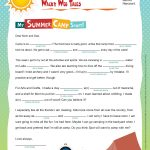 Print This Fun, Summer Themed Worksheet To Reinforce Parts Of Speech | Houghton Mifflin Printable Worksheets