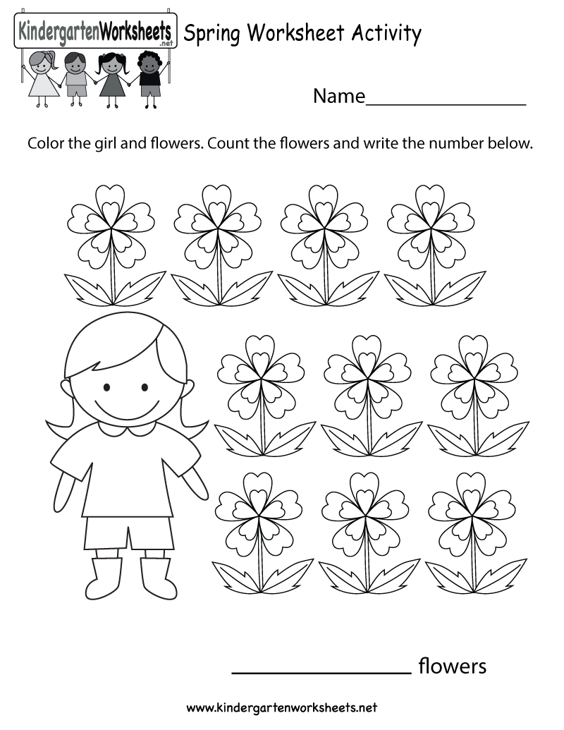 Printable Activity Sheets For Kindergarten – With Abc Worksheets | Free Printable Spring Worksheets For Elementary