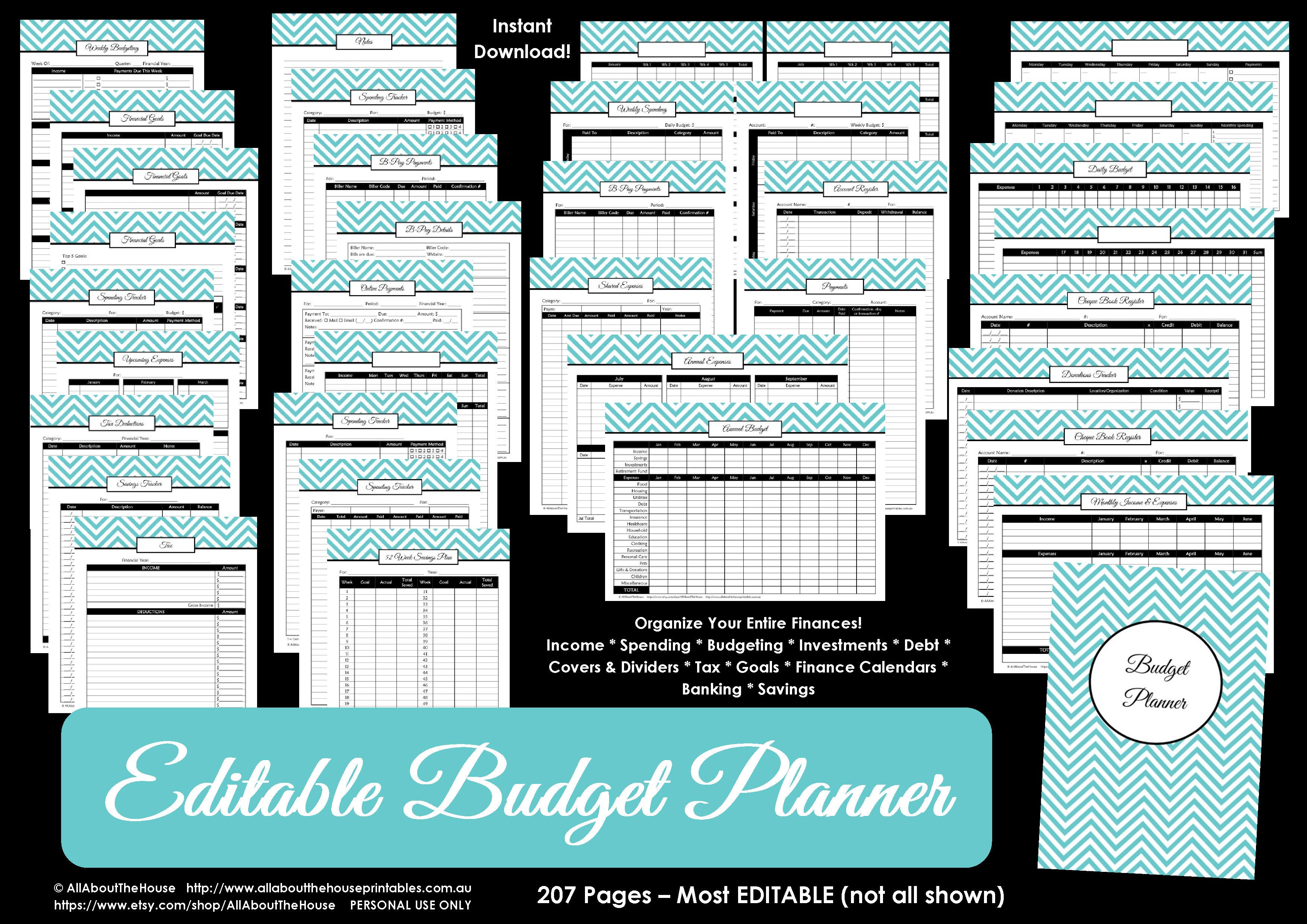 Printable Budget Planner/finance Binder Update - All About Planners   Printable Budget Binder Worksheets