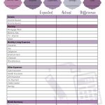 Printable Budget Worksheet   Little Us | Printable Budget Worksheet