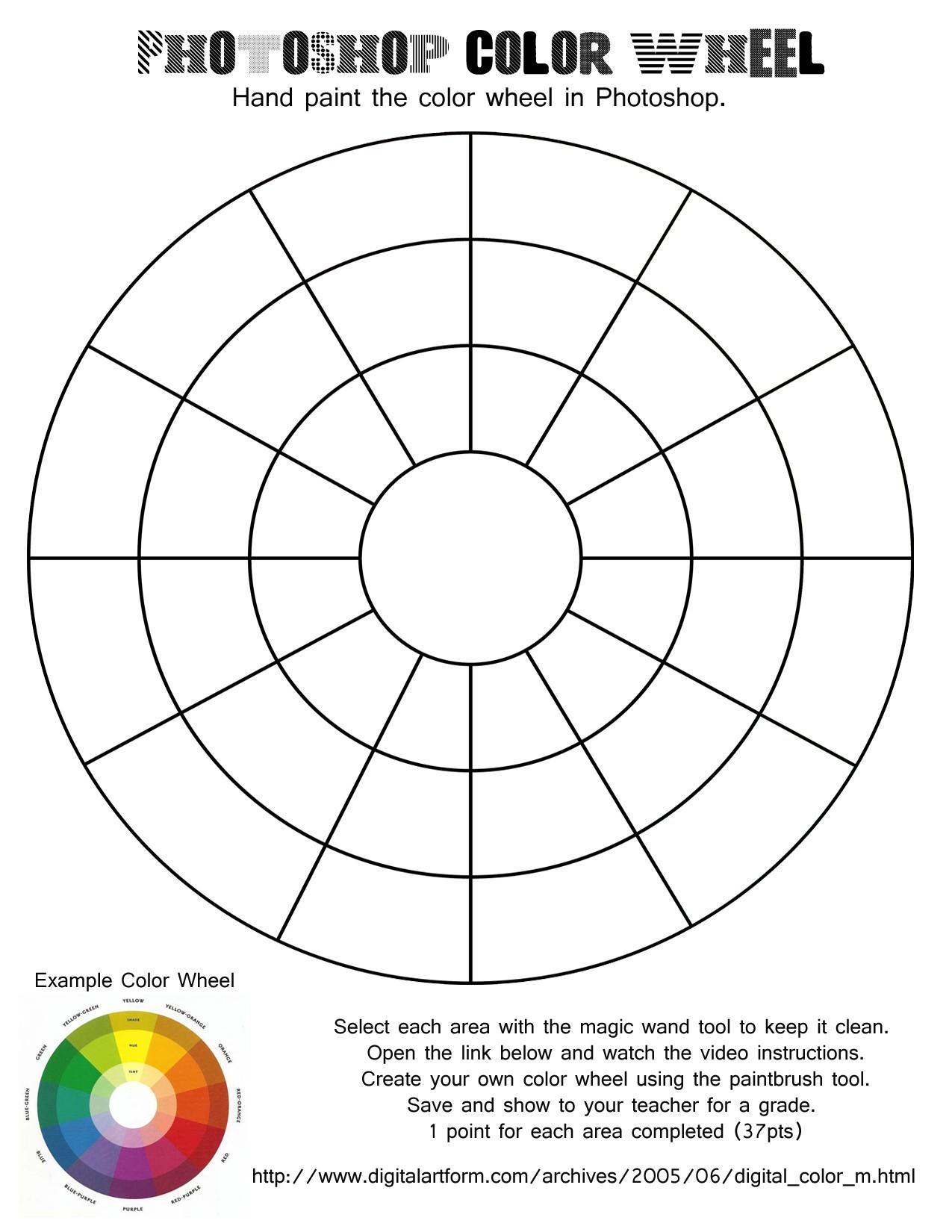 Printable Color Wheel Worksheet | Presidencycollegekolkata | Printable Color Wheel Worksheet