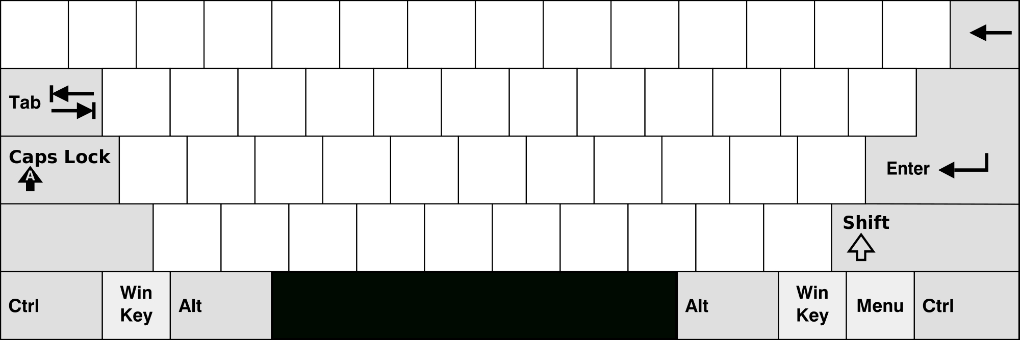 Printable Computer Keyboard Template. Keyboard Template Printable   Blank Keyboard Worksheet Printable