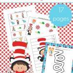 Printable Dr Seuss Activities For Kindergarten And Preschool | Free Printable Dr Seuss Math Worksheets