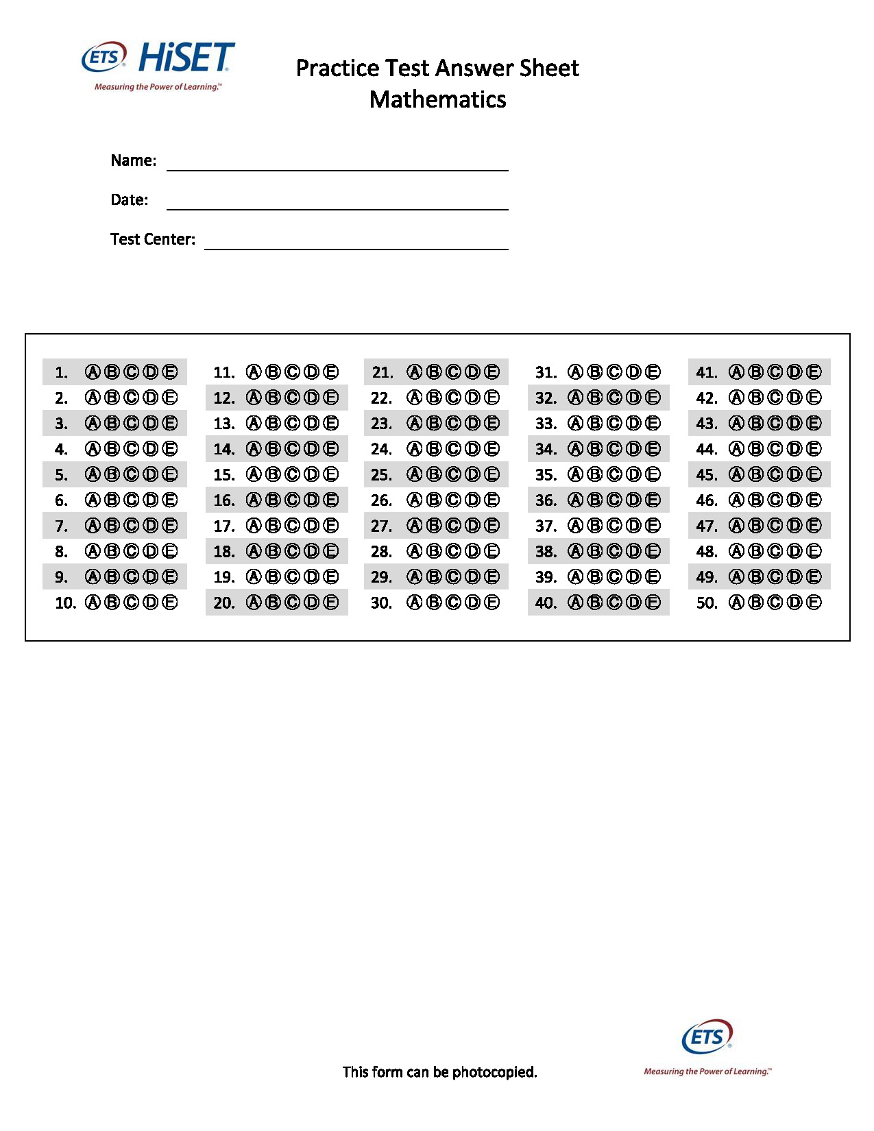 Printable Ged Practice Test A With Answers Pdf | Printable Ged Practice Worksheets