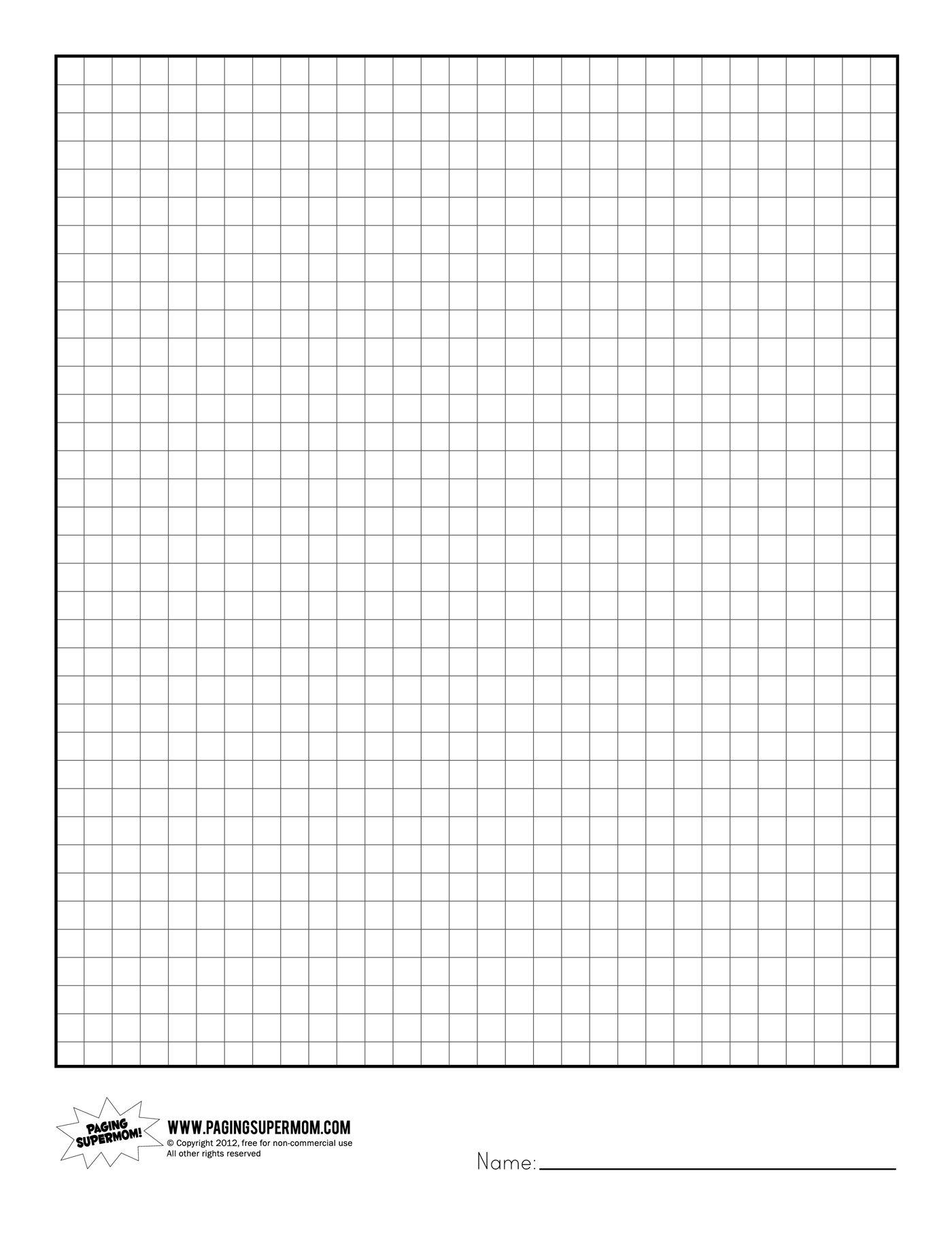 Printable Graph Paper | Healthy Eating | Printable Graph Paper, Grid | Free Printable Graph Art Worksheets