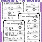 Printable Magic E   Long A Worksheets   Only Passionate Curiosity | Magic E Worksheets Free Printable