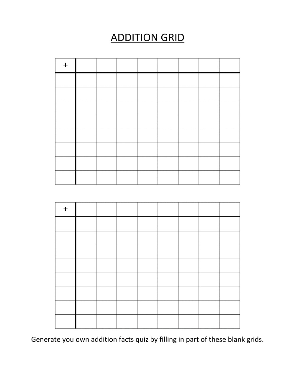 Printable Math Grids Worksheets – Printable Shelter | Printable Grids Worksheets