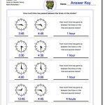 Printable Pdf Analog Elapsed Time Worksheets | Math Worksheets | Elapsed Time Worksheets Free Printable