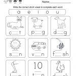Printable Phonics Worksheet   Free Kindergarten English Worksheet | English Worksheets Free Printables