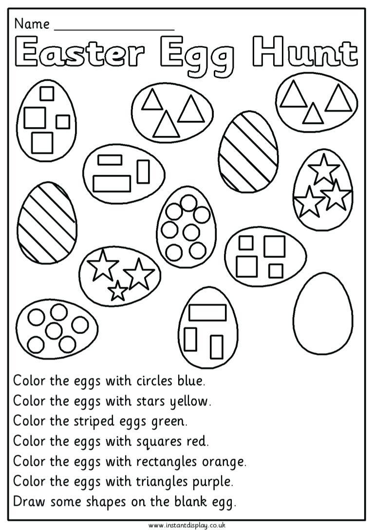 Printable Preschool Easter Worksheets – Hd Easter Images | Free Printable Easter Worksheets For Preschoolers