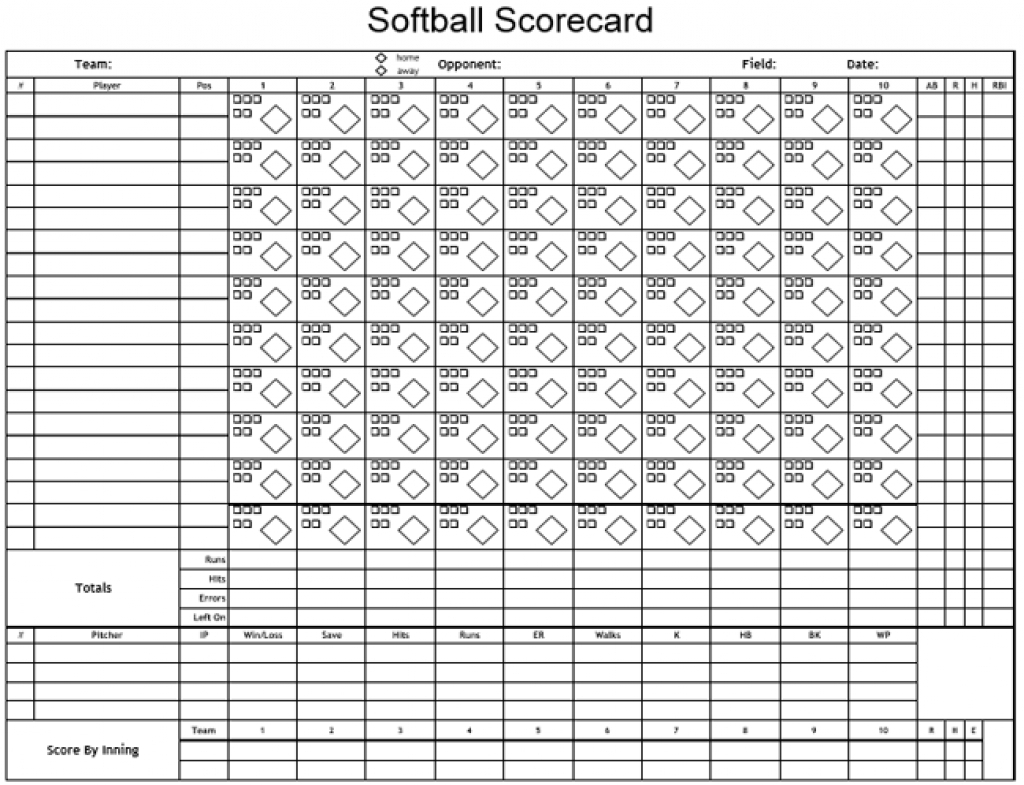 Printable Softball Score Sheet | Printable Sheets - Free Printable | Softball Worksheets Printable